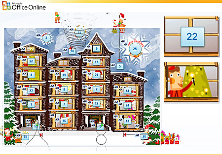 Advent Calendar Template (Powerpoint)
